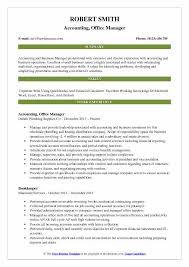 Sample Office Manager Resumes Accounting Office Manager Resume Samples Qwikresume