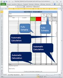 Excel Overtime Formula Monthly Editable Excel Timesheet With Automatic Calculation