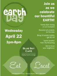 Earth Day Sermon Flyer Poster Template With Text And Image