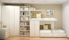 Saving Space In A Small Bedroom Alluring White Space Saving Bunk Design Inspiration With Extra