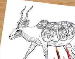 Small Picture Printable Adult Coloring Page Mandala Pronghorn Antelope