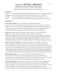 Good Resume Examples For Software Engineers Unique Entry Level