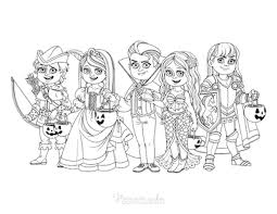 This collection contains the most girlish coloring pages to make the dreams of your little princess come true. 75 Halloween Coloring Pages Free Printables
