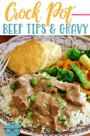 crock pot beef tips and gravy video