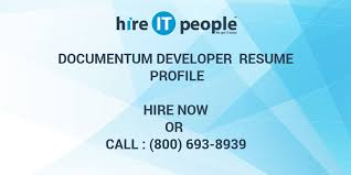 Documentum Developer Resume Profile Hire It People We Get It Done
