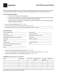 Get 21 tax software promo codes and discounts to save on tax day 2021. H R Block Drop Off Fill Online Printable Fillable Blank Pdffiller