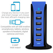 Aduro 6 Port Usb Charger Blinking Light Powerup 6 Port Usb Home Charging Station Aduro Products
