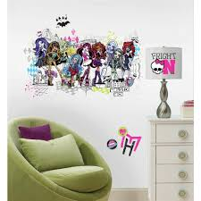 Monster High Bedroom Decorations New Giant Monster High Group Wall Decals Girls Room Stickers