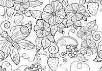 Flower Coloring Pages For Adults Printable Coloring Page For Kids