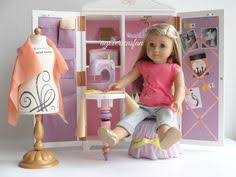 setting up american doll isabelle s studio