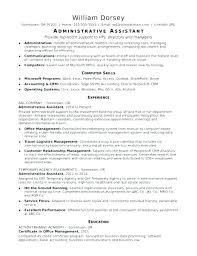 Administrative Assitant Resumes Fresh Sample Resume For Office Assistant Position And Sample Resume