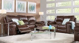 living room furniture photos. Vercelli Brown Leather 5 Pc Living Room With Reclining Sofa Furniture Photos I