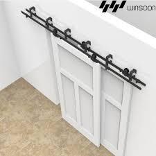 winsoon 5 16ft sliding byp barn door hardware double doors track kit new barn door