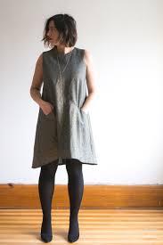 Grainline Patterns Stunning The Farrow Dress By Grainline Studio In Kaufman Metallic Linen