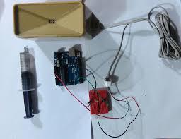 picture of arduino rain gauge calibration