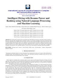 Machine Learning Resume Resume Templates