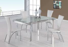 luxurious white cottage dining table design with silver finish including modern dining chairs design for dining room furniture designer dining room table
