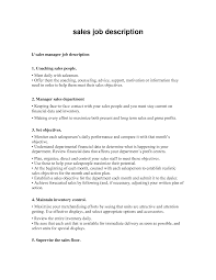 Sales Manager Position Description Template Insideob Examples