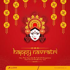 happy navratri indian festival banner