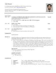 Resume Computer Science Master Graduate Resume Template Word School