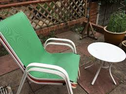 2 garden chairs and table warrington