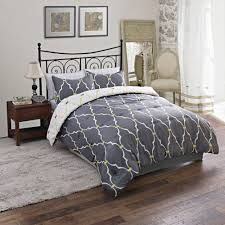 dayton king size 3 piece reversible comforter set soft brushed microfiber quilted bed cover hunter green plum purple com