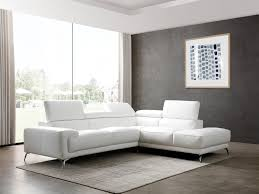 sophia rsf white italian leather modern sectionals contemporary sectionals