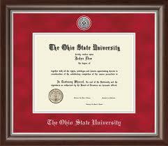 the ohio state university diploma frames church hill classics the ohio state university diploma frame silver engraved medallion diploma frame in devonshire