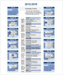 Free Printable School Calendar Calendar Template 41 Free Printable Word Excel Pdf Psd