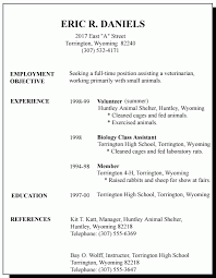 1st resume template