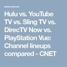 you tv vs sling tv vs directv now vs playstation vue channel lineups compared
