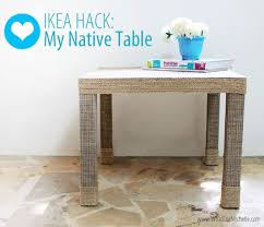 IKEA Lack hack using rope and glue