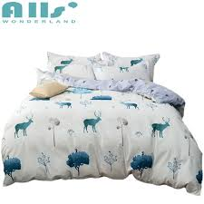 patterns bedding cute deer duvet cover set sets queen and king size modern bed sheet soft patterns bedding new duvet cover
