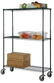 24 deep x 72 wide x 80 high 3 tier freezer wire shelf truck with 800 lb capacity by omega s corporation