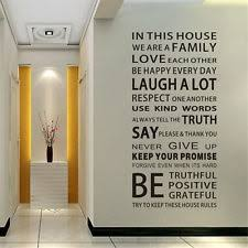 wall decal family art bedroom decor family rules removable vinyl decal art home decor quote wall window room sticker