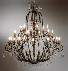 rustic crystal chandeliers wrought iron crystal chandelier light with regard to amazing house iron and crystal chandelier decor