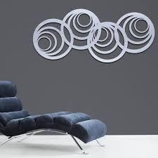 modern abstract circle metal wall art
