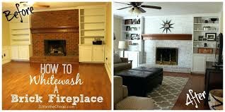 clean fireplace brick wall with vinegar