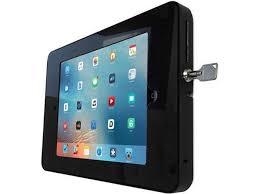 tryten t2608ba wall mount ipad enclosure black wall mount works w ipad 2 3 4 air 1