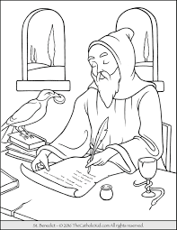 Sure Fire Catholic Coloring Sheets Saint Benedict Page The Kid Pages