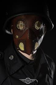 steampunk leather mask image 2