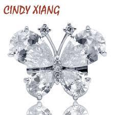 2019 <b>CINDY XIANG</b> New Fashion <b>Cubic Zirconia</b> Butterfly Collar ...