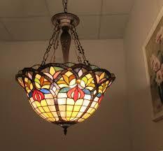 photo 9 of 12 chloe lighting loretta tiffany style victorian 3 light inverted ceiling pendant chloe tiffany lamps