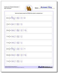 fraction worksheet multiplication worksheet