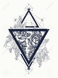 Roses In A Triangle Tattoo Art Symbol Of Freedom Beauty Tattoo