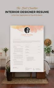 Interior Designer Resume Sample Creative resume template coverletter cv resumes Pinterest 36