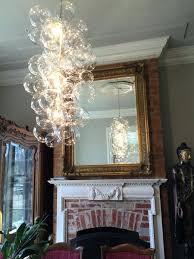 glass globe chandeliers view in gallery waterfall bubble chandelier by modern glass globe chandeliers