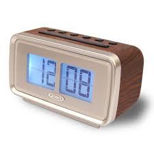 am fm dual alarm clock with digital retro flip display