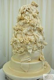 Draped Wedding Cakes Fancy Cakes 2 Tier Rose Wedding Cake Makers