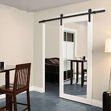 sliding door track kit modern sliding barn door closet hardware track system unit for single